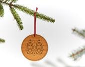 Gemini / Wood Ornament