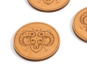 Aries / Alder Wood Coaster Set