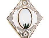 Bohemian Floral Mirror / Copper + Maple Wood