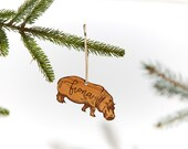 Fiona the Hippo / Wood Ornament