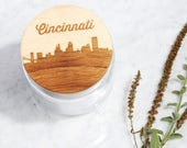 Your City Skyline / Maple Wood + Glass Jar