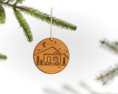 Camper / Wood Ornament