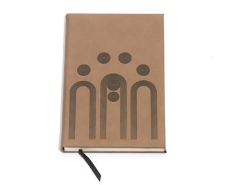 Arches / Tan Faux Leather Journal