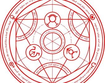 Transmutation Circle Etsy