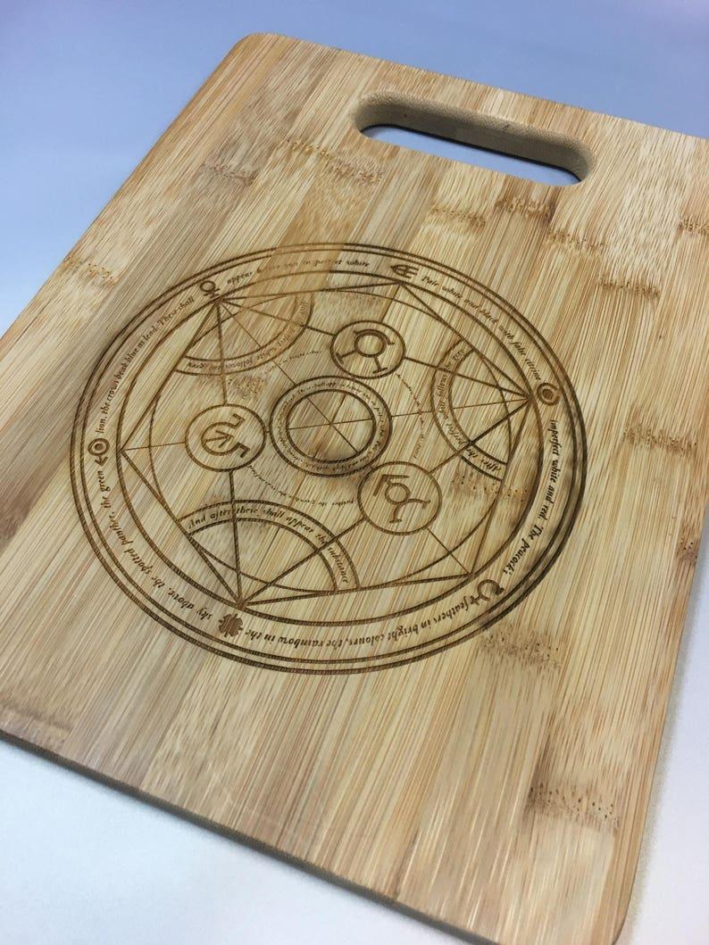 Fullmetal Alchemist Transmutation Circle Bamboo Cutting Board Etsy