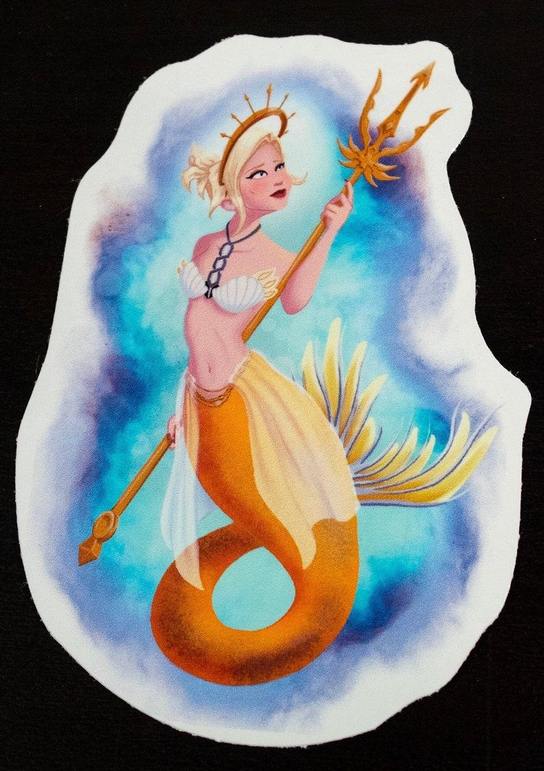 Mercy Mermaid Die-Cut Sticker image 0