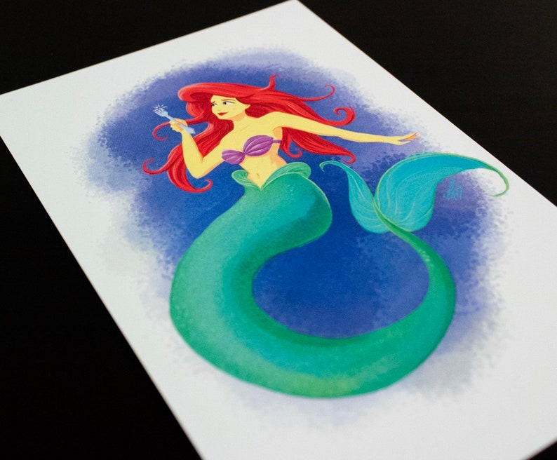 Little Mermaid 4x6 Art Card image 0