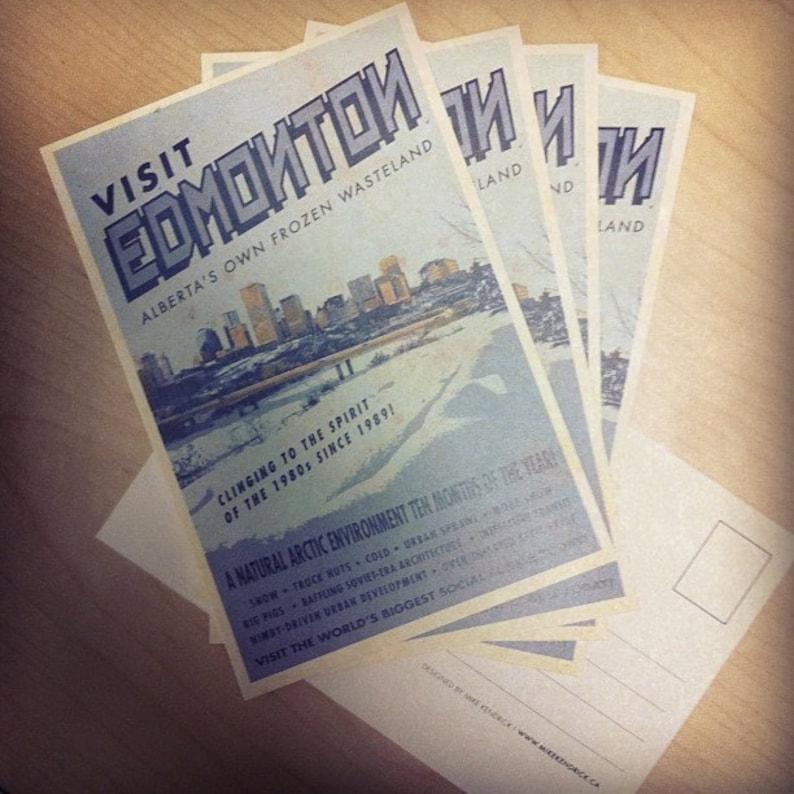 Visit Edmonton  Alberta's Own Frozen Wasteland postcard image 0