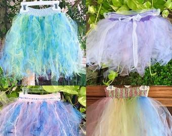Girls Princess Skirt, Rainbow Party Skirt, Dress-up Skirt, Costume, Birthday Party Skirt, Rainbow Tutu, Iridescent Skirt