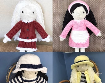 Doll Outfits, 14.5 inch Doll Clothes, School Doll Set, Doll Striped Set, Doll Summer Outfit, Doll Striped Sweater, Girls Birthday Gift