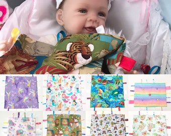 Baby Travel Blankets, Baby Animals Travel Blanket, Rainbow Baby Mini Blanket, Babies Travel Blankie, Little Travel Blankets, Baby Gifts