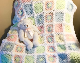 Pastel Baby Blanket, Super Soft Baby Blanket, Pastel Baby Blanket, Baby Gift, Soft Baby Blanket, Baby Shower Gift, Pastel Lap Blanket