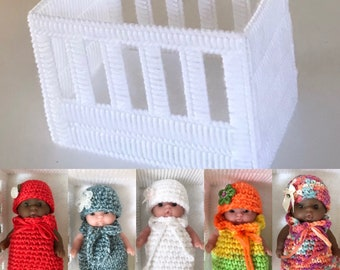 Small Doll Cribs, Baby Dolls, Doll Beds, Baby Doll Crib, Baby Dolls, Twin Baby Dolls, Shoebox Gift Item