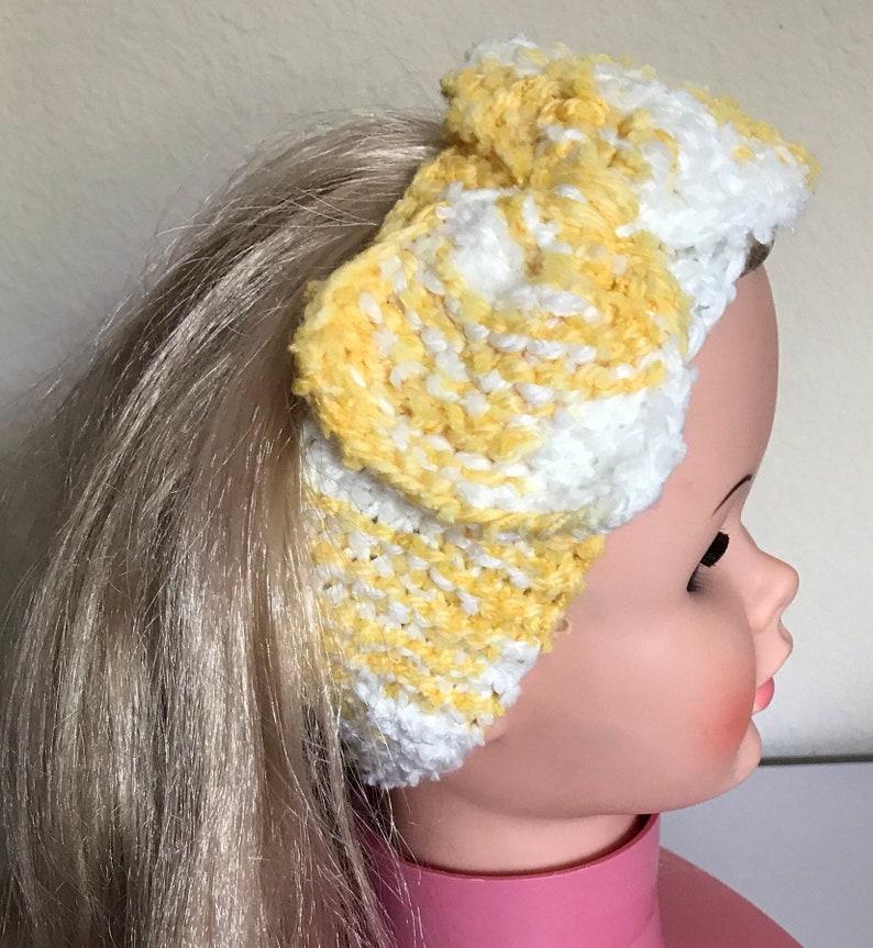 Girls Headband Dressy Headband Girls Yellow Headband Baby Bow Headband Yellow Headband Little Girls Headband Pretty Bow Baby Headband
