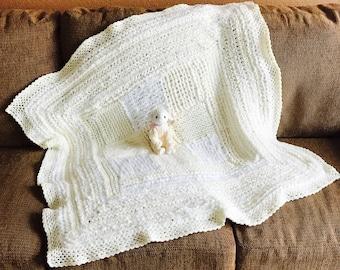 Cream Baby Blanket, unisex Baby Blanket, Soft Baby Blanket, Baby Blanket, Nursery Blanket, Crib Blanket, Baby Shower Gift