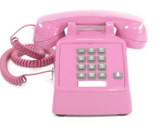 Vintage telephone Candy Pink push button phone