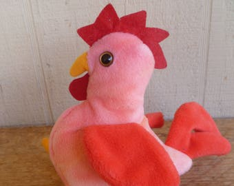 57ca5cc7af4 TY Beanie Babies Plush Rooster