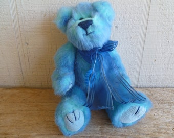 124d00d0334 Ty Plush Teddy Bear Blue 1993