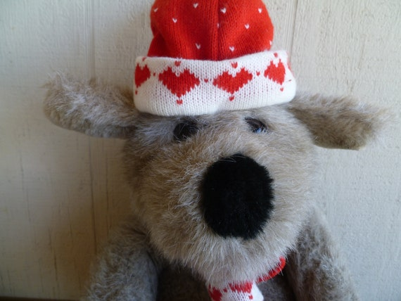 Chris Mutt Vintage Plush Dog Target Christmas Dog Etsy