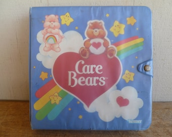 Vintage 1980's Care Bears  Carry Storage Case with Inserts