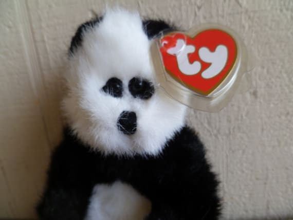 962292cb5df TY Beanie Babies Plush Bear Checkers With Tags
