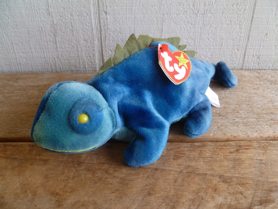 9241207047d TY Beanie Babies Plush Iguana Iggy With Tags