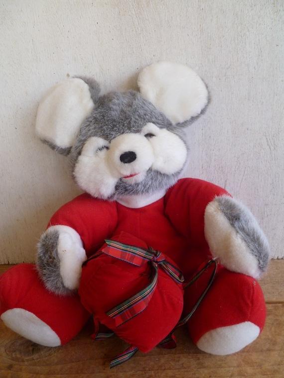 Christmas Mouse Plush American Wego Inc Etsy