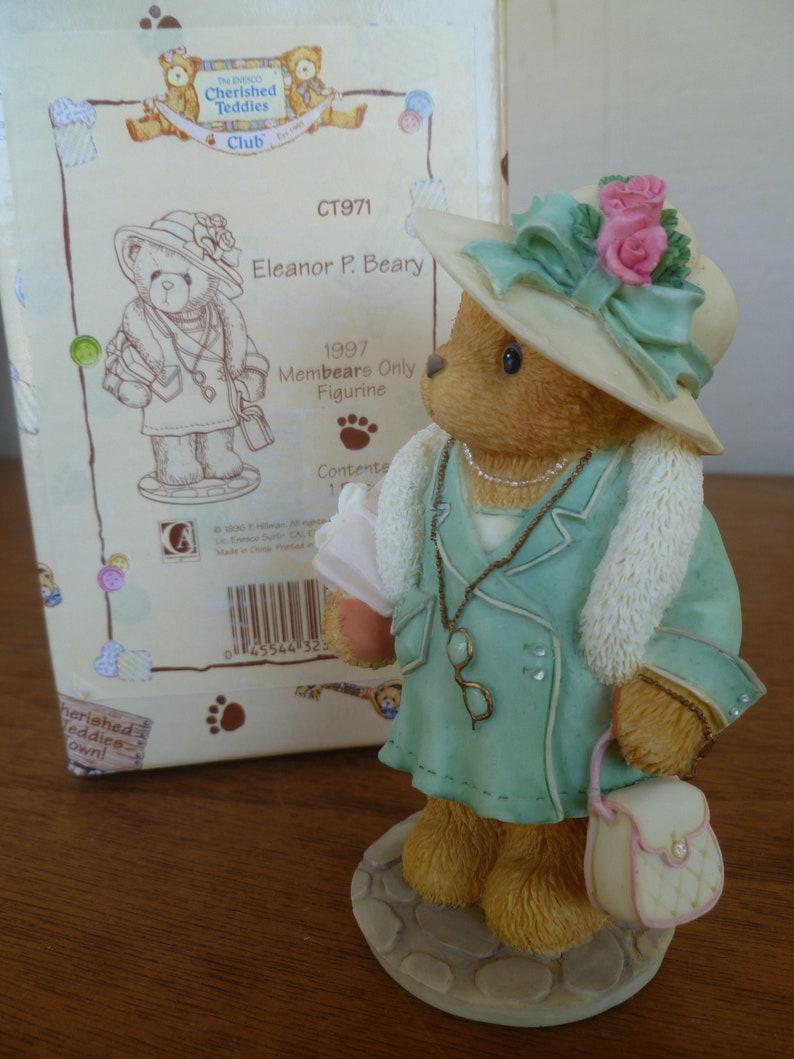 Cherished Teddies Figurine  Eleanor P Beary 1997 Membears Only Figurine New in Box