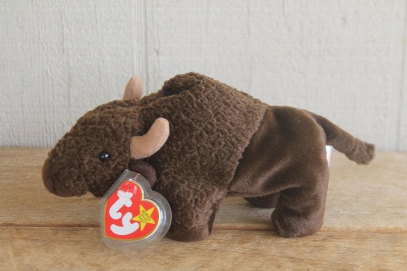 be4e3e77968 TY Beanie Babies Plush Buffalo Roam With Tags
