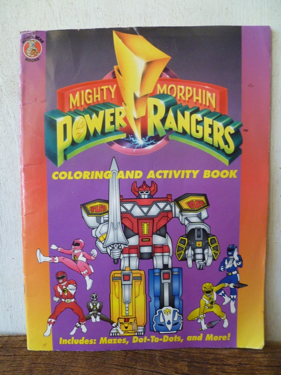 Mighty Morphin Power Rangers Coloring Activity Book 1994 Etsy
