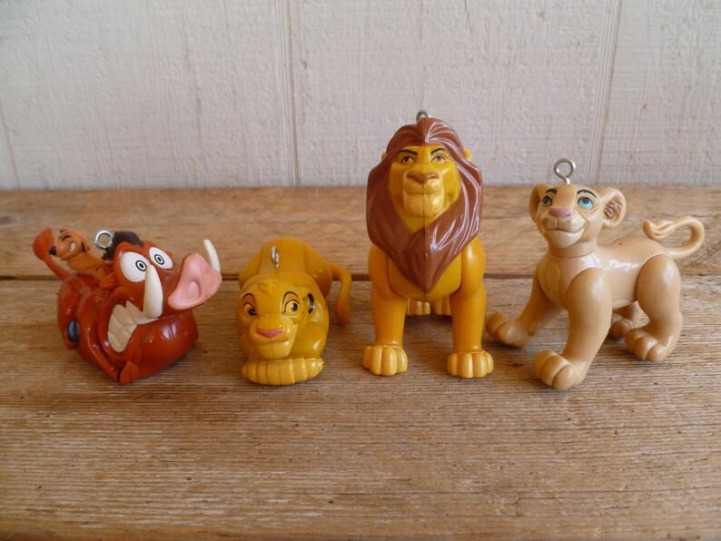 Vintage Disney Lion King Christmas Ornaments Burger King Cake Topper