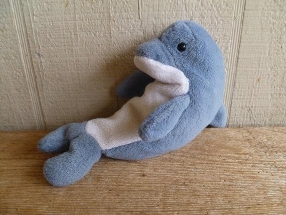 68b87fe4b9d Plush Dolphin TY Beanie Babies