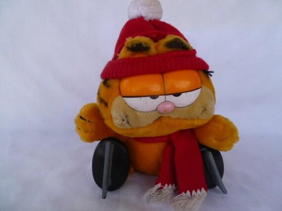 Garfield Ice Skating Large Plush Cat 1981 Dakin Vintage Etsy