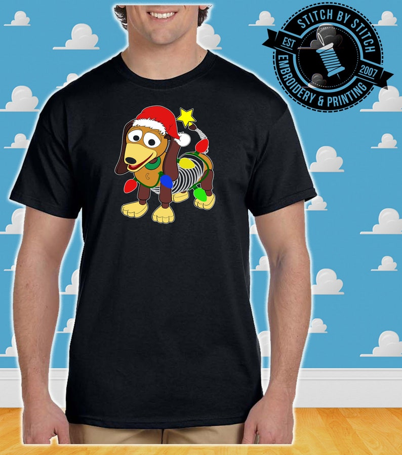 4337df409f14c Toy Story Land Slinky printed Christmas Shirt- Christmas Gift, xmas shirt,  Toy story land, disney
