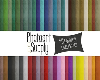Chalkboard - DIGITAL PAPER - Old Chalkboard Colorful Digital Scrapbooking or Template Paper - Instant Download