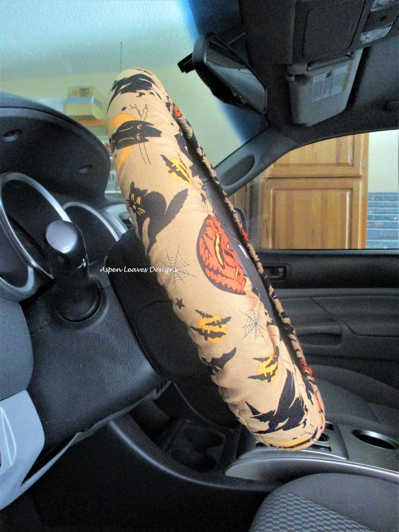 Halloween steering wheel cover. Fully lined. Pumpkins image 0