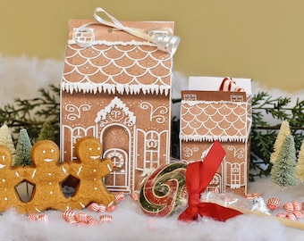 Gingerbread House Printable Party Treat Boxes Christmas Wedding