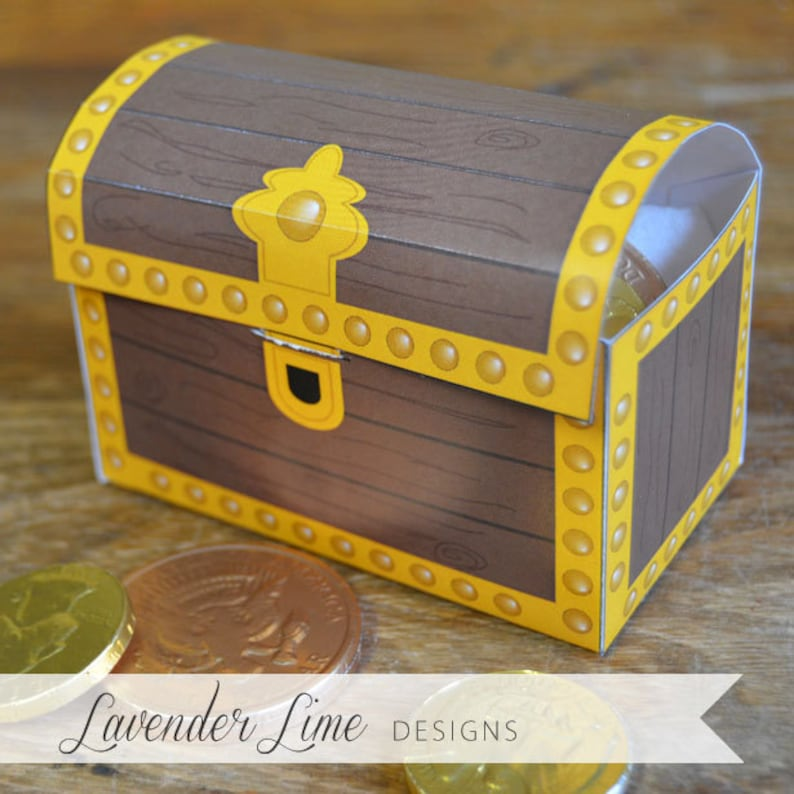 picture about Printable Treasure Chests known as Printable Do it yourself Pirate Treasure Upper body Like Bins