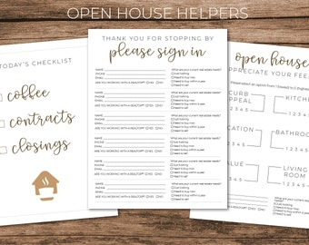 Real Estate Open House Printable Helpers