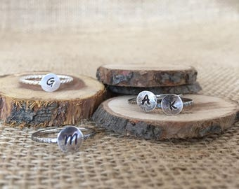 iNiTiAL RiNgS...StErLiNg SiLvEr StAcKiNg RiNg...MoDeRn MoNoGrAM