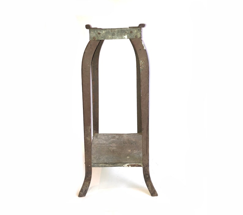 Incredible Vintage Metal Plant Stand Base Industrial Modern Bar Stool Base Garden Decor Rustic Farmhouse Country Table Base Terrarium Stand Gmtry Best Dining Table And Chair Ideas Images Gmtryco