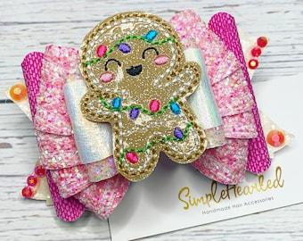 Christmas Hair Bow: Santa + Reindeer + Snowflake + Christmas Tree + Buffalo Plaid + Golden Ticket + Christmas Movie + Gingerbread + Nativity