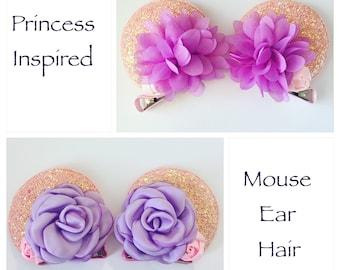 Mouse Ear Hair Clips or Mouse Ear Headband