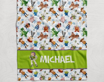 Toy Story Buzz Lightyear Personalised Super Soft Fleece Baby Blanket