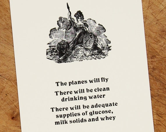Letterpress postcard: The Planes Will Fly