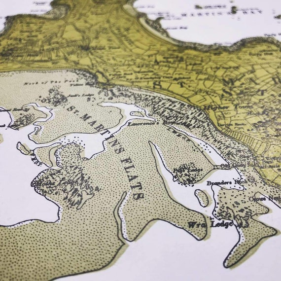 Hand-Printed Map of St. Martin's, Isles of Scilly