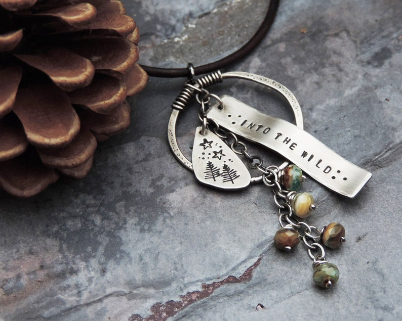 Into the Wild Organic Pine Tree Charm Necklace  Nature image 0