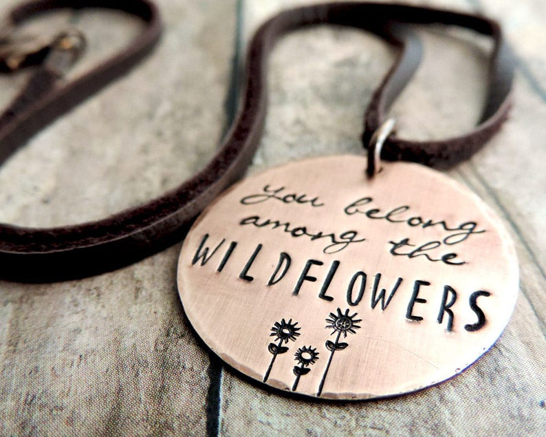 Tom Petty You Belong Among the Wildflowers Copper Pendant image 0