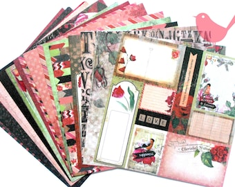 Scrapbooking paper 15cm by 15cm (20 pieces)
