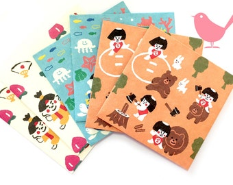 Mini Japanese Envelope set of 6 mini envies